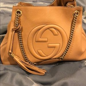 Gucci authentic soho bag in nude